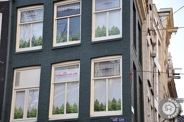 Cannabis decoration in Amsterdam