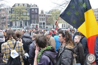 420 protest Amsterdam